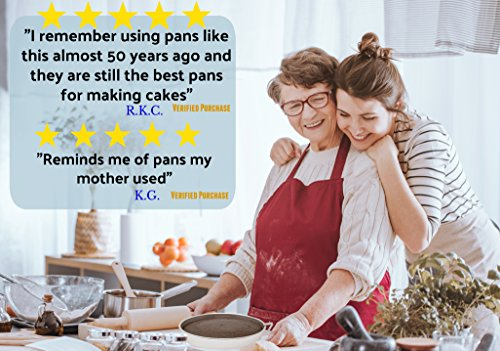 Aunt Shannon's Easy Release 8'' Cake Pans - Set of 3 Quick Release Pans for Easy Cake Removal Every Time by Aunt Shannon's Kitchen (Image #4)