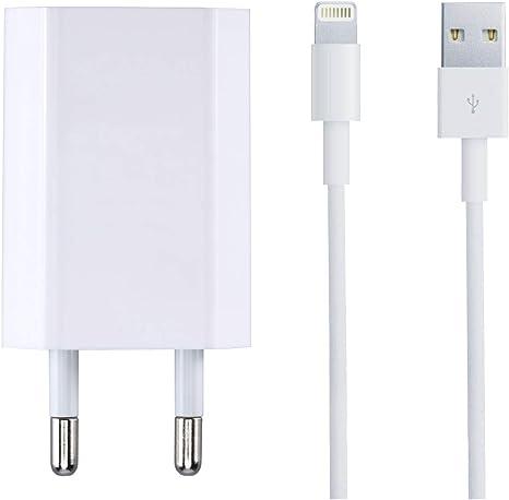 ZLONXUN Chargeur Secteur 5w et Câble USB Compatible avec iPhone SE55C5S66S6 Plus6S Plus77 Plus88 Plus