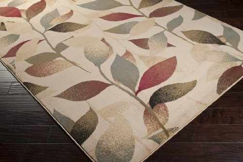 Surya Riley RLY-5010 Contemporary Machine Made 100% Polypropylene Light Pear 2' x 3'3' Floral Accent Rug
