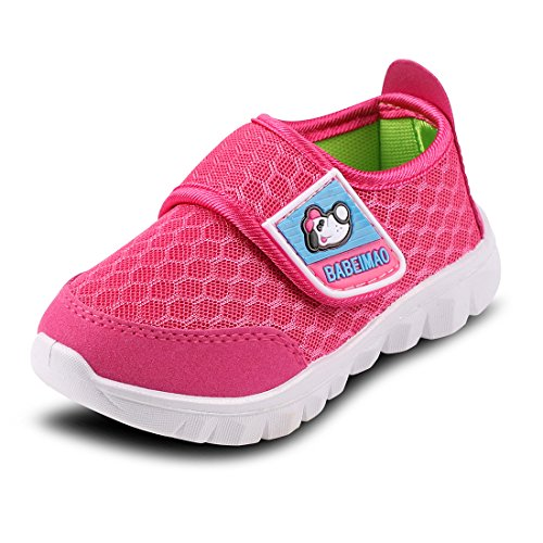 - Baby Sneaker Shoes for Girls Boy Kids Breathable Mesh Light Weight Athletic Running Walking Casual Shoes(4 M US Toddler,Pink,19)