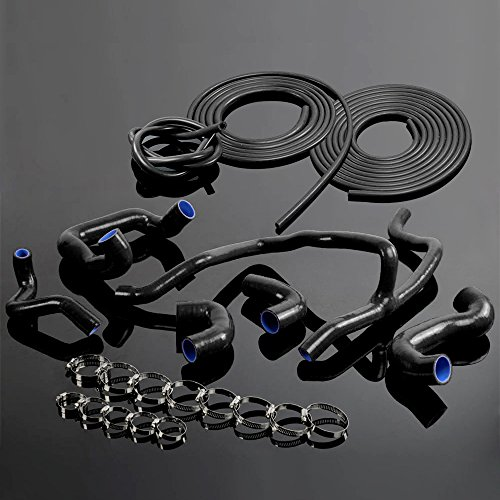 Silicone Radiator Hose + Vacuum Kit For BMW E30 M20 325 325i 6cy 1988-1993 89 90 91 92 Black (Hose Vacuum Bmw)