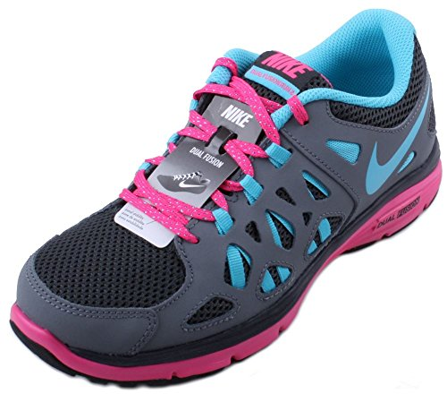 3ec3173dfb4d Nike Dual Fusion Run 2 (GS) Youth Anthracite Gamma Blue-Cool Grey-Pink Fl  Running Sneakers - Buy Online in UAE.