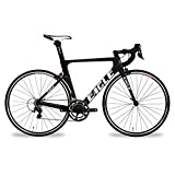 Z1 Eagle Carbon Aero Road Bike - Shimano 105 - US Assembled like Trek and Specialized - Lightest Frame under 2K - Weights 17 Pounds - Matte Black