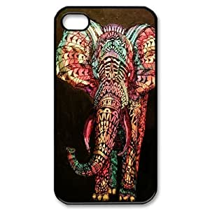 DIY Phone Case for iPhone 5c, Colored Elephant Cover Case - HL-698126