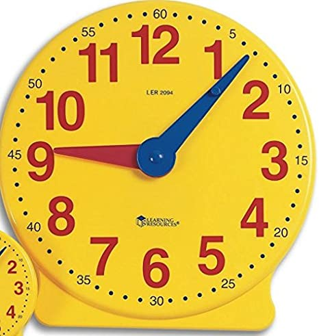 LRNLER2094 - Big Time Learning Clocks 12-Hour Demonstration Clock for  Grades K-4