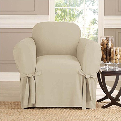 Microsuede Furniture Slipcover Chair 70 x 90 - Taupe
