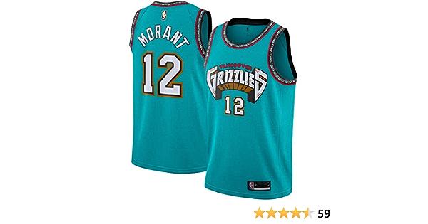 Grizzlies 2021 New City Edition Chaleco de Moda para Hombre Camiseta c/ómoda Transpirable S JA Morant Basketball Jersey