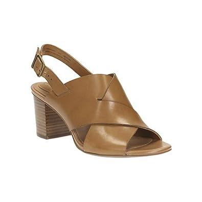 Clarks Women's Ralene Vive Sandal Tan Leather Size 6.5 B(M) US