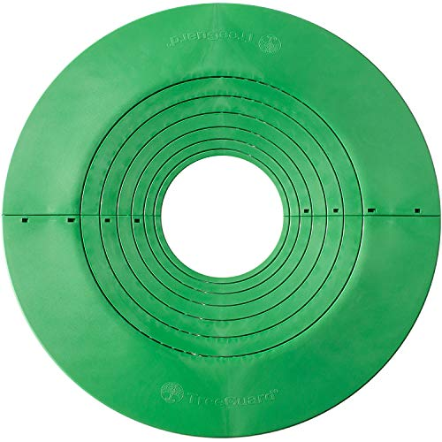 Tree Guard Protector Mulch Ring - Lasts 20 Years, Rubber-Free - 20-Inch, 3-Pack - Permanent Mat for Mowing, Edging, Landscaping
