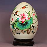 FLYSXP Ceramic Powder Eggshell and Egg Egg Auspicious New Chinese Home Decoration Home Decorations (Color : B)