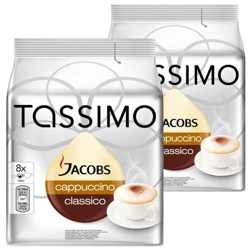 Tassimo Jacobs Cappuccino, Lot de 2, 2 x 16 T-Discs (16 - T-disc Cappuccino