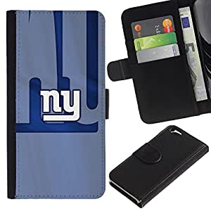 NY Equipo deportivo - la tarjeta de Crédito Slots PU Funda de cuero Monedero caso cubierta de piel Para Apple (4.7 inches!!!) iPhone 6 / 6S