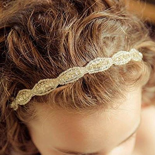 FXmimior Flower Girl Wedding Crystal Rhinestones Headband Hair