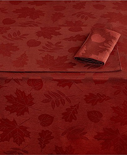 Homewear Berkshire Leaves Oblong Tablecloth, Spice Orange (60 x - Berkshire Store