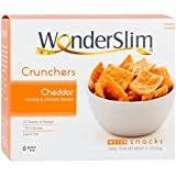 WonderSlim High Protein Cheddar Crunchers Chips - 10g Protein Per Bag - Low Fat, Gluten Free Cheese Snack Chips (7 Bags)