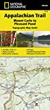 Appalachian Trail, Mount Carlo to Pleasant Pond [Maine] (National Geographic Trails Illustrated Map)