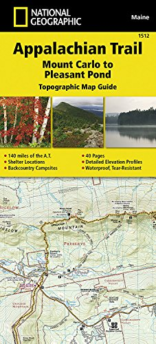 Appalachian Trail, Mount Carlo to Pleasant Pond [Maine] (National Geographic Topographic Map Guide) (Best Hiking Map App)