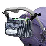 Stroller Organizer Bag for Moms/Dad,Large Storage Space with Cup Holders and Insulated Pocket,Universal Stroller Bag for Baby Accessories,Blue
