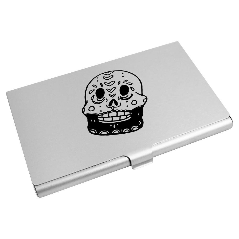 Azeeda 'Bearded Sugar Skull' Business Card Holder / Credit Card Wallet (CH00013189)