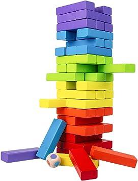 TONZE Juegos de Mesa Juguetes Madera Montessori Juguetes Madera de ...