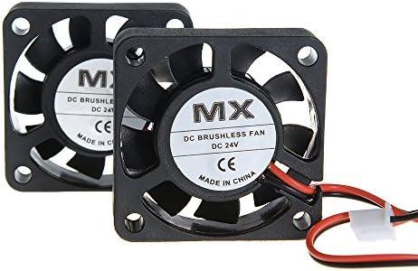 Yowming 2PCS 4010 24V DC 2Pin Quiet Cooling Fan 40x40x10mm for DIY 3D Printer Extruder Hotend Makerbot MK7 MK8 CPU Chip Arduino
