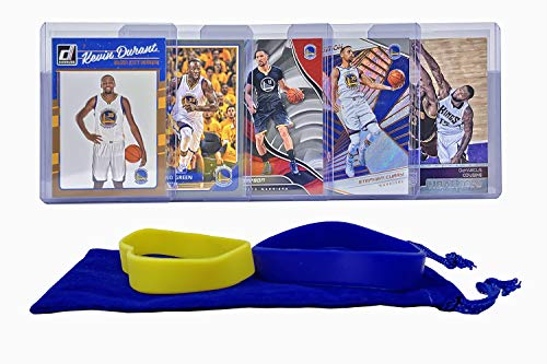 Golden State Warriors Rookie Basketball - Golden State Warriors Card (5) Basketball Cards: Stephen Curry, Kevin Durant, Klay Thompson, Draymond Green, DeMarcus Cousins ASSORTED Trading Cards and Wristbands Bundle