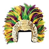 Zucker Feather Products Coque Feather Headdress Multi with Sequin