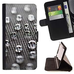 Jordan Colourful Shop - Water Drops For Samsung Galaxy S6 EDGE - < Leather Case Absorci????n cubierta de la caja de alto impacto > -