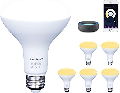 LED E26 Smart Bulb,LED Br30 Dimmable Bulb,WiFi Smart Bulb Work