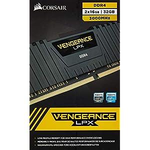 Corsair CMK32GX4M2D3000C16 Vengeance LPX 32GB (2 x 16GB) DDR4 3000 (PC4-24000) C16 1.35V Desktop Memory Black