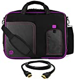 VanGoddy Purple Trim Laptop Bag w/ 8FT HDMI Cable for Acer Aspire / V Nitro / TravelMate 17.3inch Laptops