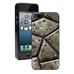Apple iPhone 4 4S 4G Black 4B552 Hard Back Case Cover Color Armor Steel Background wangjiang maoyi