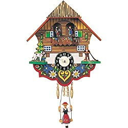 ENGS 0193SQT Engstler Battery-operated Clock - Mini Size with Music-Chimes