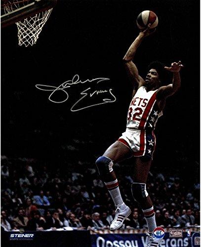 Julius Erving New York Nets Soars to Basket Signed 16x20 Photo (Derek Jeter Gift Baskets)