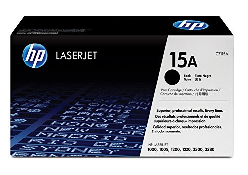 HP 15A (C7115A) Black Toner Cartridge for HP LaserJet 1000 1200 1220 3300 3380