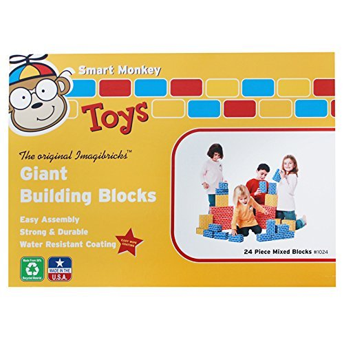 Imagibricks Giant Building 24Pc Set Blocks By Smart Monkey by Smart Monkey Toys