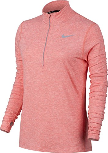 Nike Running Tops (Women's Nike Dry Element Running Top Bright Melon/Reflective Silverr Size Large)