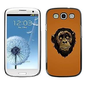 PC/Aluminum Funda Carcasa protectora para Samsung Galaxy S3 I9300 Friendly Ape Monkey Chimpanzee / JUSTGO PHONE PROTECTOR