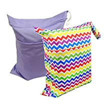 Alva baby Baby 2pcs Pack Wet and Dry Cloth Diaper Bags L0537-CA