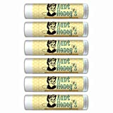 Aunt Honey's SPF Lip Balm Smooth Mint Flavored, Made with Beeswax, Aloe Vera, Coconut Oil-6 Tubes Chapstick