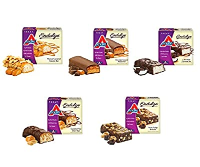 Atkins Endulge Bars Sampler Variety Pack 5 Different Flavors, 2 Bars of Each Flavor, a Total of 10 Bars