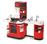Smoby Cook Master Electronic Roleplay Kitchen with 36 Accessories & Magical Foods, 39'', Red