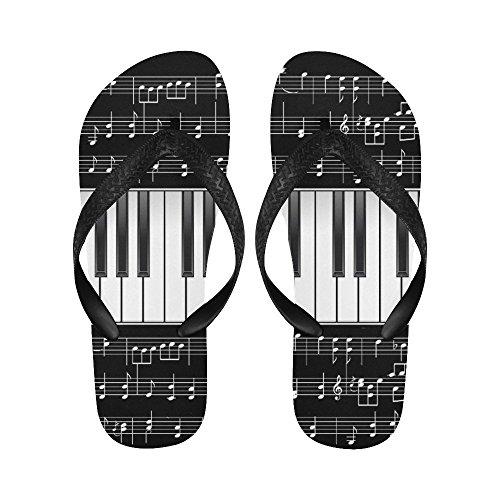 D-verhaal Piano Klavier Muziek Noot Flip Flops Strand Sandalen Voor Heren / Dames