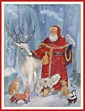 Entertaining with Caspari Creche Scene Christmas Cards, Box of 16