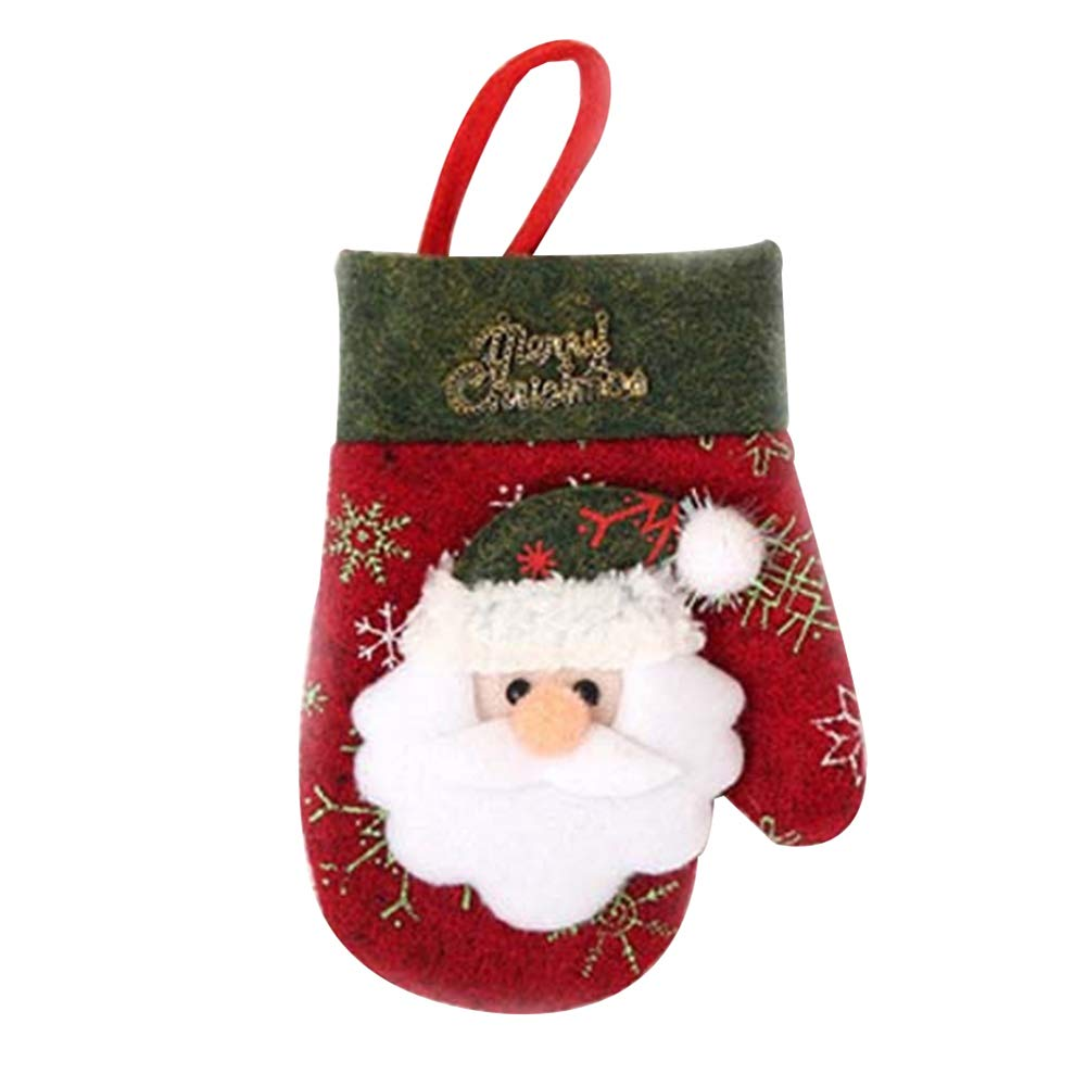 ofvsdhftgj calze argenteria tasca porta posate da tavola Natale Decorazioni natalizie, Tessuto non tessuto, Bear
