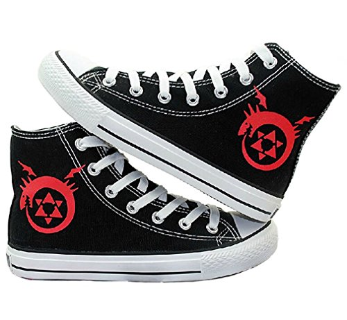 Bromeo Fullmetal Alchemist Unisexe Toile Salut-Top Sneaker Baskets Mode Chaussures