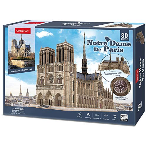Cubicfun 3d Architecture Model Kits Puzzle Challenge For
