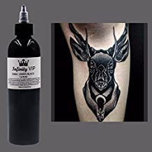 Professional 1 Bottle Tattoo Ink for Lining and Shading Newest Tribal Liner Shader Pigment Black 8 oz