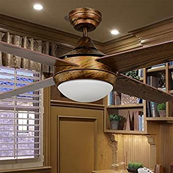 ceiling fans with lights for living room. Akronfire Retro Wood Ceiling Fan Lights for Restaurant and Living Room  Remoto Control Simple with LED Remote
