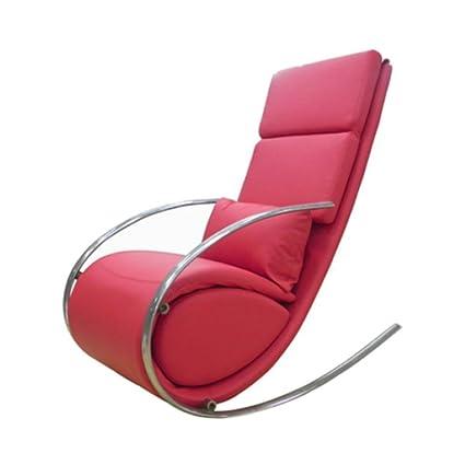 the best attitude 6761f 7eaa2 Amazon.com: Whiteline Contemporary Modern RC1028P-RED Chloe ...